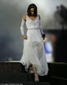 Photo Credit: Press Association  Dress by Michael Sharpe